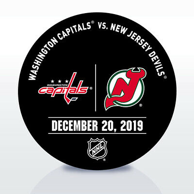 New Jersey Devils Game Used NHL Warm Up Puck 12/20/19 Vs. Washington Capitals!