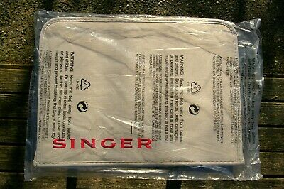 Singer Brand Red Embroidered Logo Sewing Machine Canvas Dust Cover for 1507WC