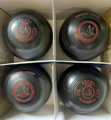 Second Hand Drakes Pride Excel Lawn Bowls Size 3