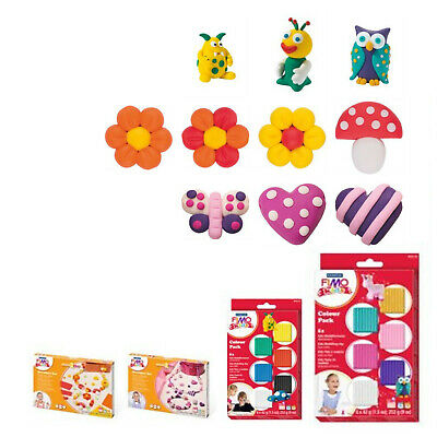 Kids Modelling Clay by FIMO Arts & Crafts Basic Pastel Colour Sets