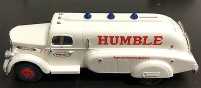 Rare Promotional White 1994 Humble Airflow Toy Tanker Truck Bank Lights Marx 11""