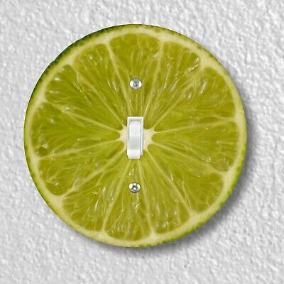 Lime Slice Round Light Switch and Outlet Plate Covers