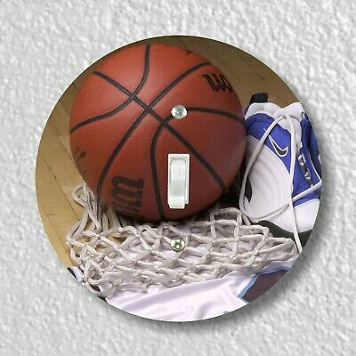 Basketball Equipment Round Light Switch and Outlet Plate Covers