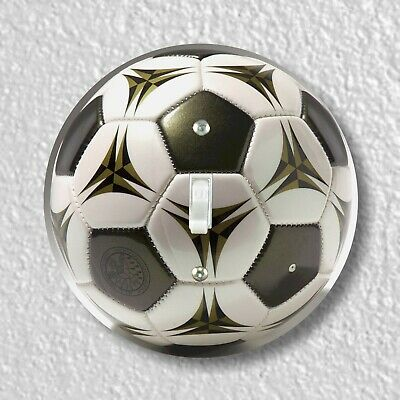 Soccer Ball Round Light Switch and Outlet Plate Covers