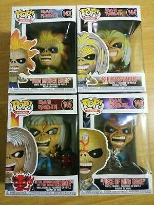 Funko Pop! Rocks: Iron Maiden - Set of 4! Eddie #143, Killers Eddie #144 & more!