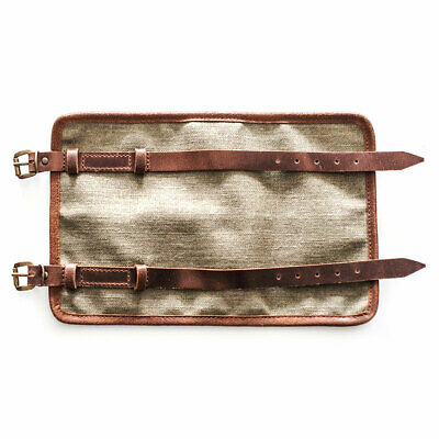Crave Canvas Tool Roll Brown