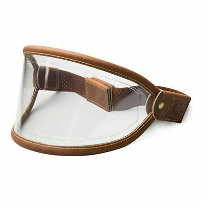 Hedon Classic Brown Goggle Visor Clear - Brass Snap