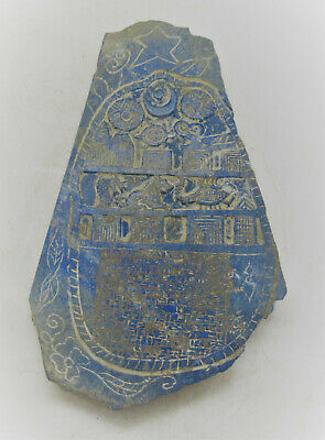 Circa 2000Bc Ancient Near Eastern Lapis Lazuli Tablet With Early Form Of Writing