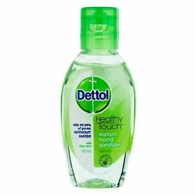 Dettol Instant Hand Sanitizer Original 50ml Kills 99.9 of Germs Without Water