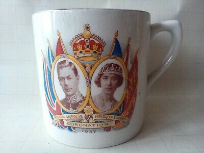 Vintage King George VI Commemorative Coronation Mug  - Made in England
