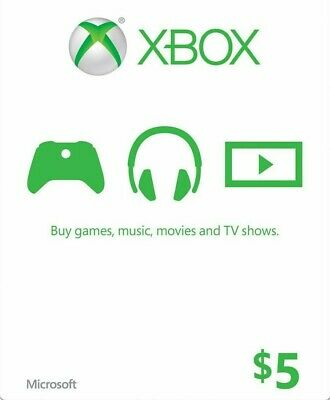 $5 XBOX Live $5 USD Gift Card - XBOX ONE and 360 - USA ONLY - 3% discount