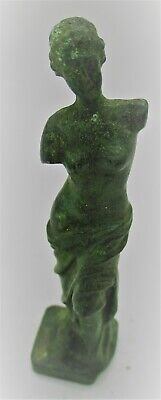Circa 200 - 300 Ad Ancient Roman Bronze Statue Of Diana