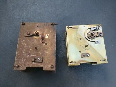 2 vintage carriage clock movements for repair or parts