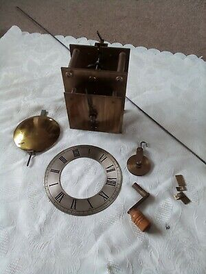 Vintage Brass Clock With Large Pendulum For Grandfather Clock