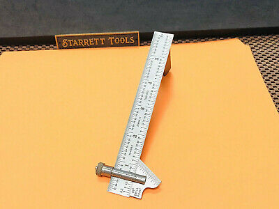 STARRETT No.22-C  59 Degree Drill Point Gage With No. 604R Tempered Steel Ruler.