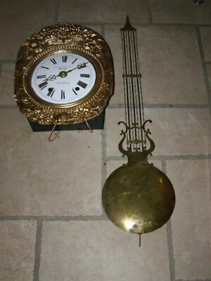 Old comtoise movement with lyre pendulum D 24cm