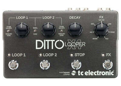 TC Electronic Ditto X4 Looper - FREE 2 DAY SHIP
