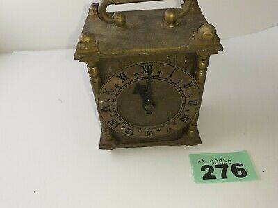 Small Brass carriage clock for spares or repair lot 276 For Spares or Repair