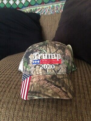 Donald Trump 2020 mossy oak camo usa hat new with tags