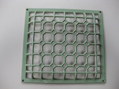 Antique Cast Iron Floor Register Heat Grate Antique Wall Grate Green Enameled
