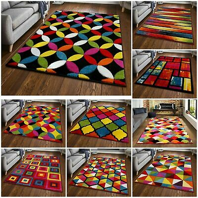 New Modern Small Large Carved Quality Multi Colour Floor Rugs Runner Carpet Mat