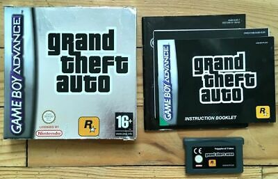 Be Grand Theft Auto Complet Boîte Notice Gameboy Gba Pal Ukv Cib Ovp Gta English