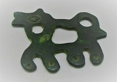 Circa 900-1100Ad Viking Era Norse Bronze Animal Fafnir Amulet Wearable