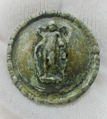 Detector Finds Ancient Roman Silver Mount Depicting Eros 200-300Ad