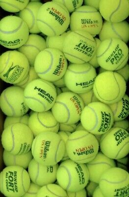 Used Tennis Balls. ITF Approved Ex Match Balls Major Manufacturers / Dogs 100