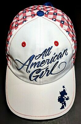Minnie Mouse Disney Parks Disneyland Resort All American Girl Youth Hat Tie Back