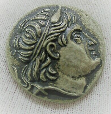 Unresearched Ancient Greek Ar Silver Tetradrachm Coin 16Grams 25Mm