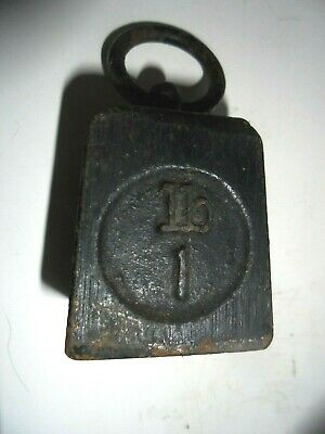 Vintage Broad Arrow Cast Iron Gpo 1 Lb Ring Weight/Scales/Door Stop/Paperweight/