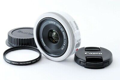 Canon EF 40mm f/2.8 STM Lens White from Japan [Excellent+++]