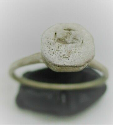Detector Finds Byzantine Silver Seal Ring With Cross Motif On Bezel