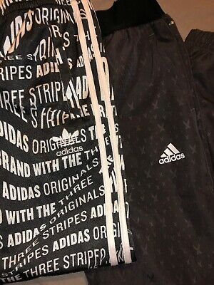 Girls Adidas Tracksuit Bottoms X 2 Pairs Age 11-12 Worn Once
