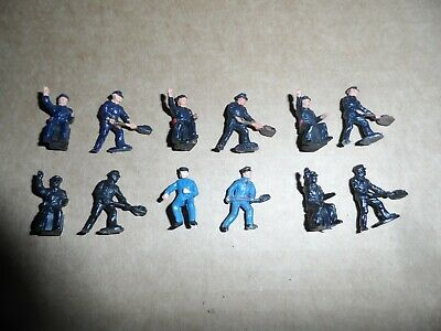 6 Pairs Of Triang Hornby Model Railways Oo Gauge Locomotive Crew Figures