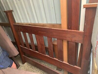 handmade solid red gum queen size bed