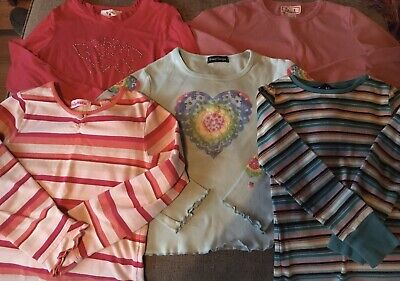 Girls Long Sleeved Shirt Lot Of 5 Baby Lulu Size 6x 7