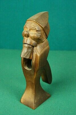 Vintage German Wooden Black Forest Gnome Nutcracker Anton Fischer