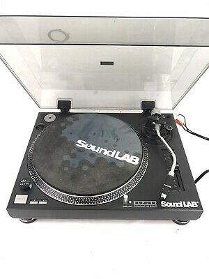 Sound Lab DLP-12 Professional Belt Drive Turntable Record Player with cartridge