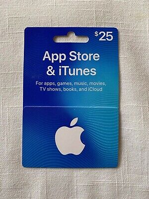 Apple App Store iTunes $25 Physical Gift Card