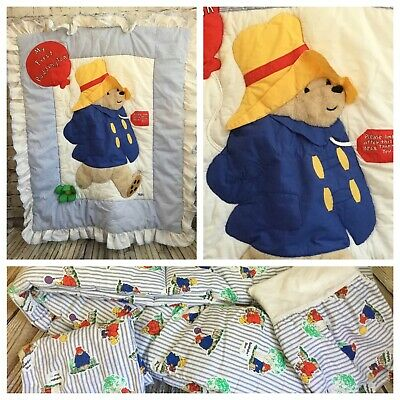 Vintage 1991 Paddington Bear by NOJO Crib Bedding My First Paddington 4 Piece