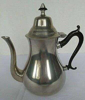 Sleepy Hallow Restorations Vintage Royal Holland 9 Inch Pewter Teapot With Lid