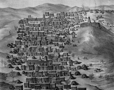 Timbuktu Mali Africa From Terrace 1858 by Barth 7x5 inch Print