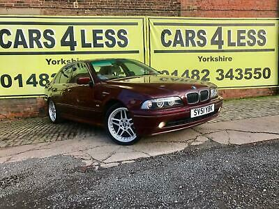2001 BMW 5 Series 535i 4dr AUTOMATIC RED 4 DOORS 3.5 PETROL 250 BHP SALOON Petro