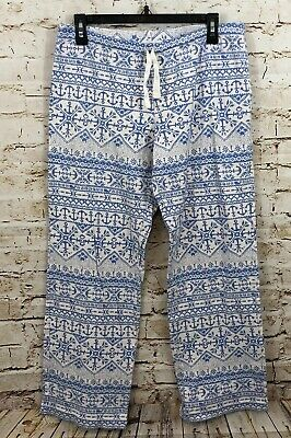 Vineyard Vines pajama lounge pants womens small anchor isle knit whale N2