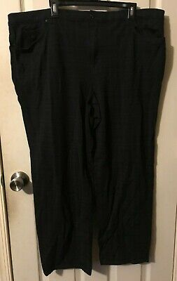"Women's Gloria Vanderbilt Size 22W -Black w/ Checks Stretch Pants 42"" x 28"" JK"