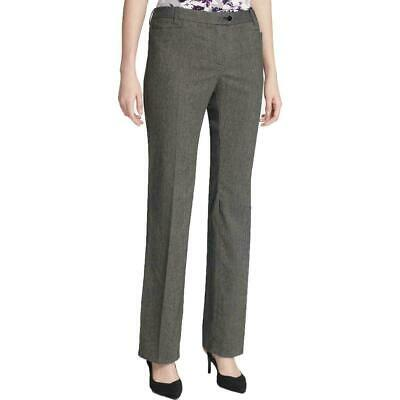 Calvin Klein Womens Pants Gray Size 14P Petite Dress Tapered Stretch $99 547