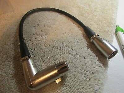 XR-0001T 1ft Premium XLR Male to Female Microphone Audio Extension Cable