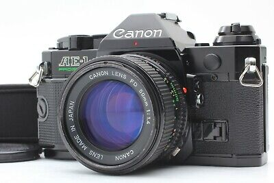 【EXC+++】 CANON AE-1 Program 35mm SLR Camera W/ NEW FD 50mm f1.4 LENS From Japan
